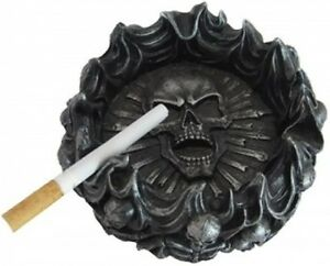 Eternal Pyre Skull Ashtray Gothic Skulls Halloween Fantasy Home Decor ! SALE fnt