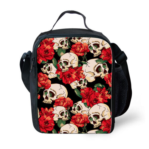 Outdoor alimentaire sac de rangement Crâne Designs Lunch isotherme refroidisseur Totes Bento Box