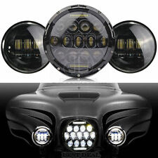"""Harley Touring 7 Inch LED Daymaker Projector Headlights & 4.5"""" Fog Passing Lamps"""