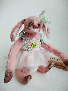 Teddy-Rabbit-Monya-OOAK-Artist-Teddy-by-Voitenko-Svitlana