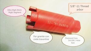 "2""Inch Wet Diamond Core Drill Bit for Concrete Block Masonry 5//8/"" 11 Thread"