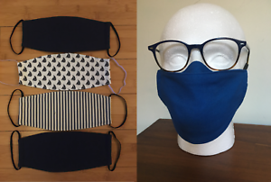 Men-039-s-Face-Mask-Nose-Wire-Great-for-Glasses-100-High-Quality-Cotton-Anti-Fog