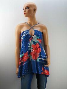 Damen Damenshirt Shirt Top Trägershirt NEU Loiza Blau Größe 36 S