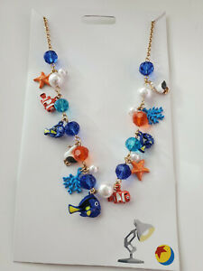 NWT-Disney-Parks-Pixar-Finding-Dory-Pier-Findings-Charm-Necklace-New
