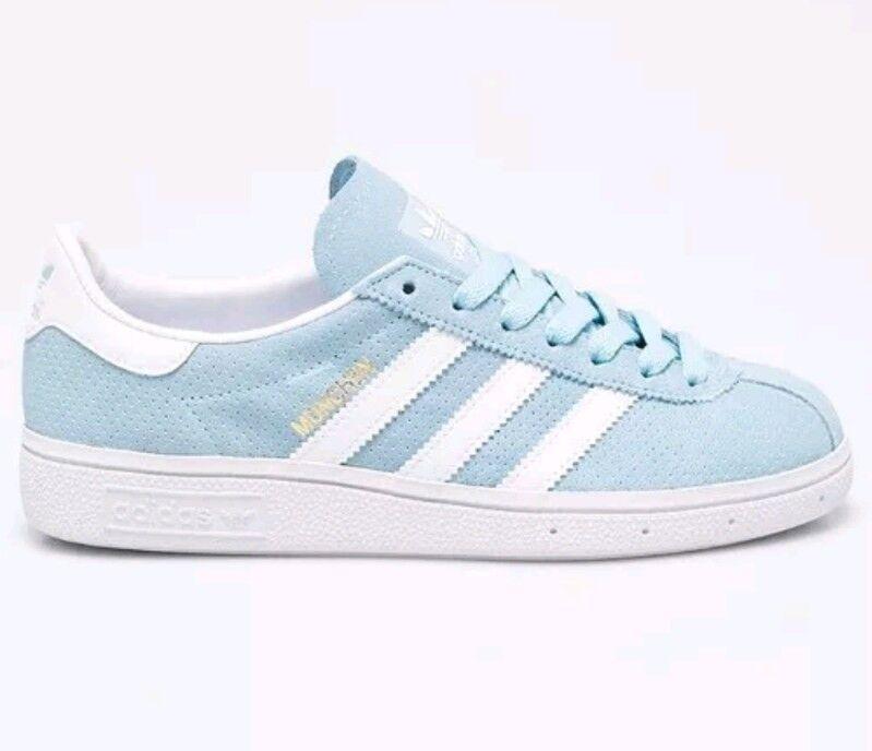 Gamuza Originals Blanco Para Adidas Hombre Nuevas Azul Munchen Raro qapwC8Cx