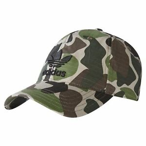 01c9de97036 adidas ORIGINALS UNISEX CAMO BASEBALL CAP HAT MEN S WOMEN S TREFOIL ...