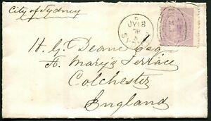 New-South-Wales-1878-July-18-cover-to-England-endorsed-per-034-City-of-Sydney-034