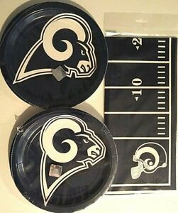 sports shoes 1c671 31a9d Details about LOS ANGELES RAMS NFL FOOTBALL Party Supply Kit w/Plates &  Tablecover