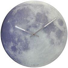 Nextime Blue Moon Wanduhr Kinderuhr Mond, Uhr leuchtet im Dunkeln, Glas Ø 30 cm