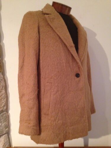 Brun Brush 288 Laine 8 B5299 Madewell Cocoon Nouveau Taille Manteau Camel qYOH4x