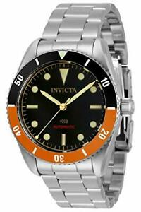 Invicta 40MM Men's Pro Diver Automatic 3 Hand Black Dial Stainless Watch 34336