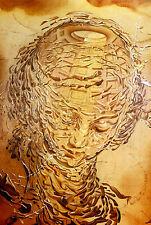 Stampa incorniciata-SALVADOR DALI Testa ESPLOSIONE (pittore surrealista FOTO POSTER)