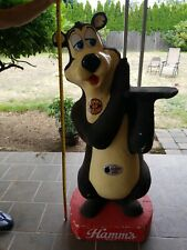 Very Rare Vintage 70's Hamm's Beer Bear Bar Styrofoam Mascot Store Display 80's