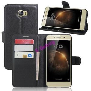 Clapet-Portefeuille-PU-Cuir-Sacs-Peau-avec-Coque-Support-pour-Huawei-Y6-Elite