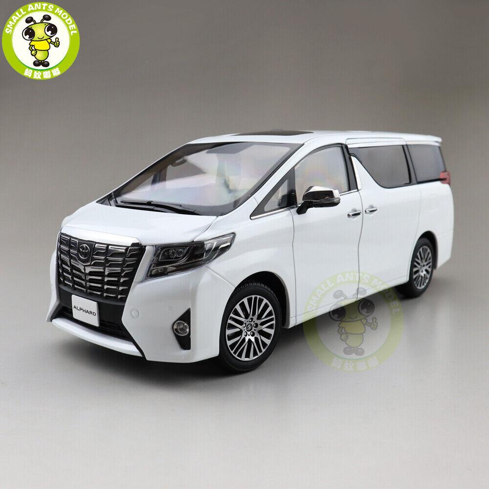 1 18 Keng Fai Toyota Alphard LHD Diecast  Metal voiture MPV Model Toys Gift blanc  derniers styles