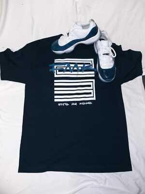Tshirt Match Jordan 11 Blue Snakeskin