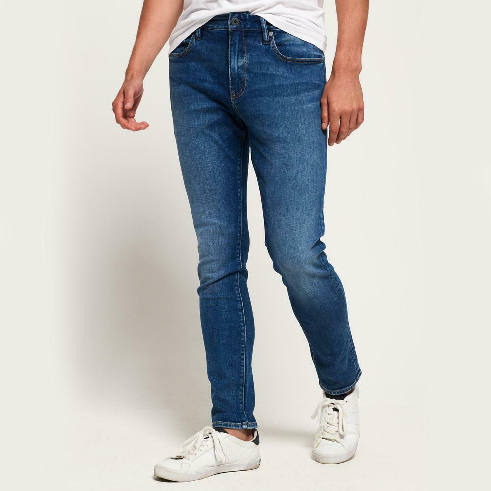 Superdry Tyler Slim Jeans Keynsham Mid bluee