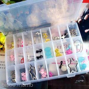 Jewelry-Bead-Earrings-Rings-Hair-Ropes-Storage-Box-Case-Organiser-10-15-24-Grids