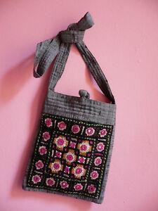Pochette Inde Miroirs Ethnique Sac Clutch Soie Bag India Ethnic Indienne rxXrnT