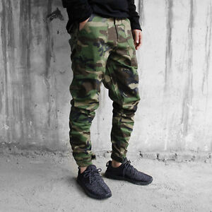 high quality materials best selling 100% original Details about Mens Camo Skinny Casual Overall Cargo Slim Fit Camouflage  Trouser Pocket Pants