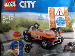 LEGO-City-Route-Travailleur-30357-Sac-en-Plastique-Neuf-Emballe