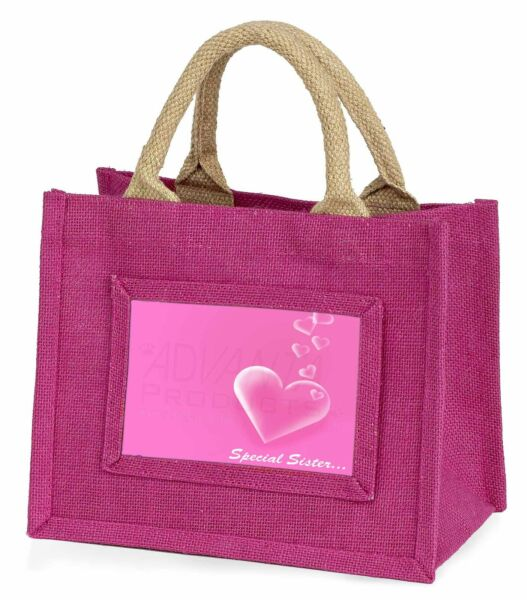 'special Sister' Sentiment Little Girls Small Pink Shopping Bag Ch, Love-sis1bmp Saldi Di Fine Anno