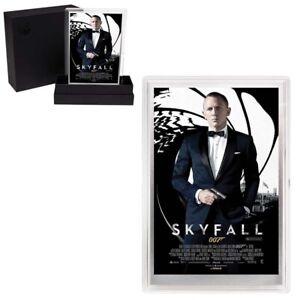 2020 5 gram Silver Foil James Bond 007 Skyfall Movie Poster Perth Mint
