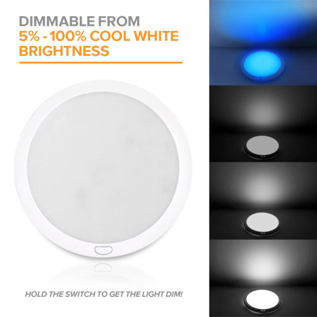 Dream Lighting 12volt Led Panel Ceiling Dome Light Fixture With Switch For Rv