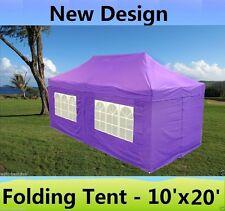 SALE $$$ 10' x 20' Pop Up Canopy Wedding Tent Gazebo EZ - Purple - E Model
