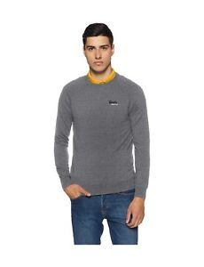 a8d7d8eb546 Superdry Men s Orange Label Cotton Crew Sports Jumper Grey (Ash Grey ...