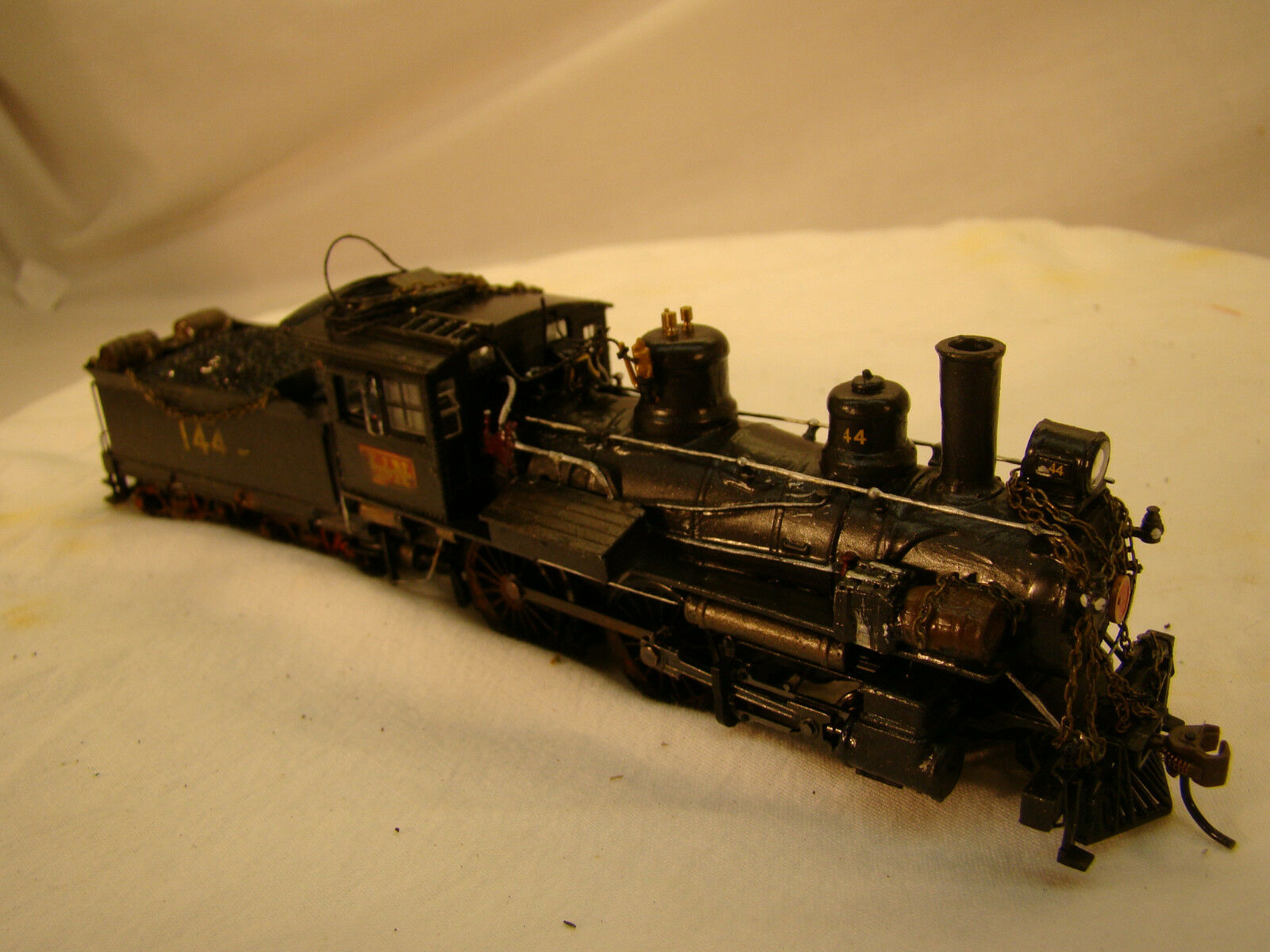 Bachmann 4-4-0 Logging Steam Locomotive - DCC and sound onboard-custom weatherosso