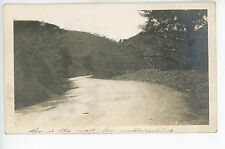 """""""How's This Road for Motorcycles?"""" RPPC Cayey PUERTO RICO Rare Antique Photo"""