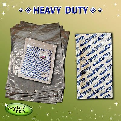 10 5 Gallon 20x30 Mylar Pro Foil Bags + 10 2000cc Oxygen Absorbers Food Storage