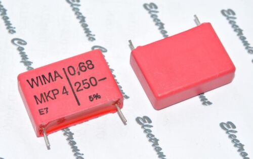 250V 5/% pich:22.5mm Capacitor 0.68µF 0,68uF 680nF WIMA MKP4 0.68uF 5pcs