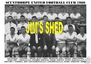 SCUNTHORPE UNITED F.C.TEAM PRINT 1960 (THOMAS/BONSON)