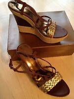 Audrey Brooke Shake Brown Women's Wedges Shoe Size 9.5 Nwb