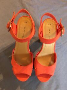 pink suede platform sandals