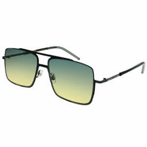 Marc-Jacobs-Marc-35-65Z-JE-Black-Metal-Square-Sunglasses-Yellow-Gradient-Lens