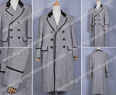 Who Is Doctor Cosplay The Fourth 4th Dr Tom Baker Costume Trench Coat Good Sell