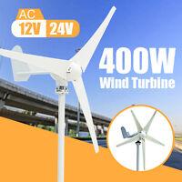 400w Power 3 Blades Wind Turbine Generator Kit Ac 12v / 24v Waterproof White