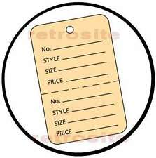 1000 Large Price Hang Tags Coupon Without Strings Unstrung Buff 2part Perforated
