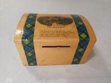 Auld Brig o Doon Tartan Ware , Mauchline Ware Money Box   ref 2181
