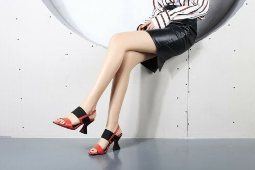 Womens Buckle Strap Slingback Opened Toe Block Heel Casual Party Dating Shoes US