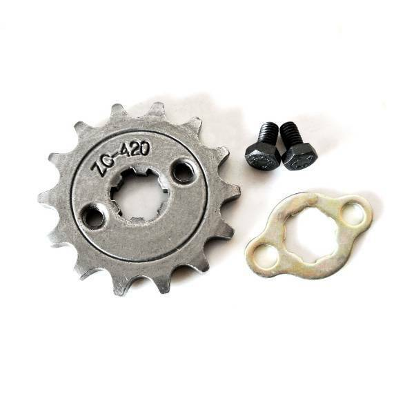 14T Teeth 17mm 420 Chain Front Sprocket For Pit Trail Quad Dirt Bike ATV Buggy