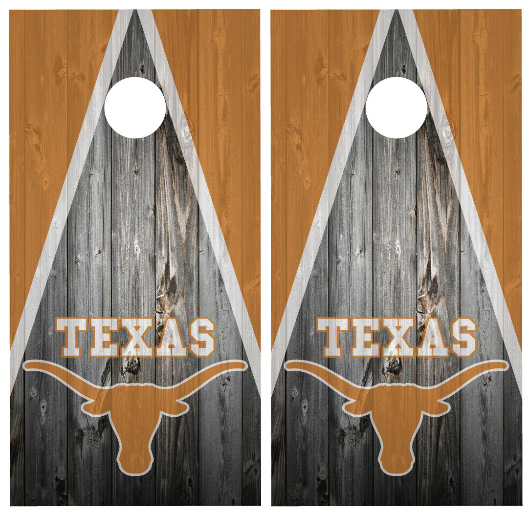 Texas  Longhorns Cornhole Board Wraps Skins Vinyl Laminated HIGH QUALITY   factory outlet