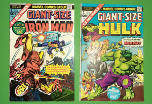 Marvel-1975-Silver-Age-1-Issue-Lot-Hulk-amp-Iron-Man-Giant-Size-1-039-s-Fine-VF