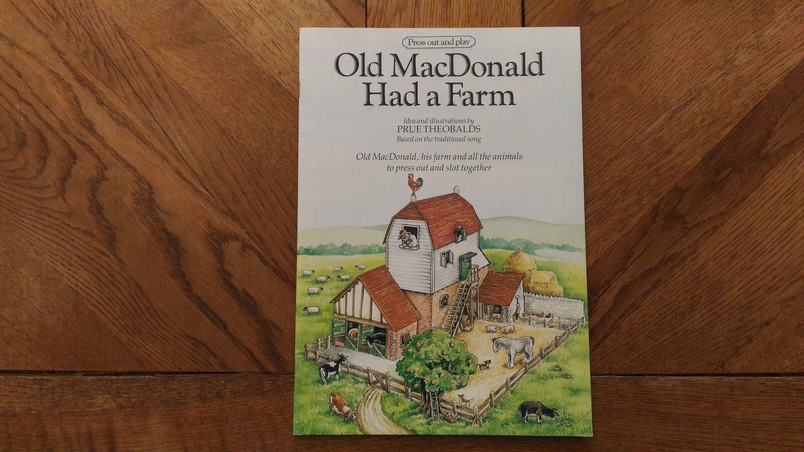 Livre Maquette A Monter   Old MacDonald Had A Farm   1993 Très Bon Etat.