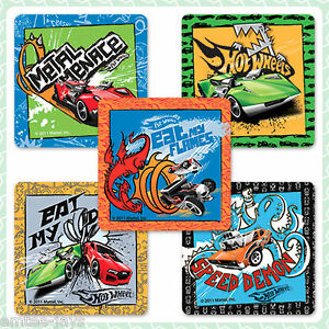 Hot-Wheels-Stickers-x-5-Party-Supplies-Reward-Favours-Speed-Shop-Cars