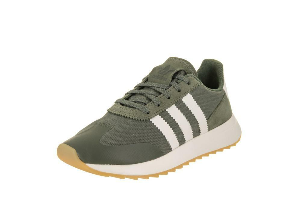 Women's Green Adidas Flashback Lace-Up Sneakers Comfortable