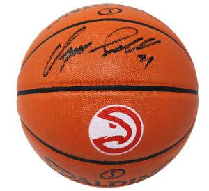 Dominique Wilkins Signed Spalding Atlanta Hawks Logo Game Series Basketball -SS